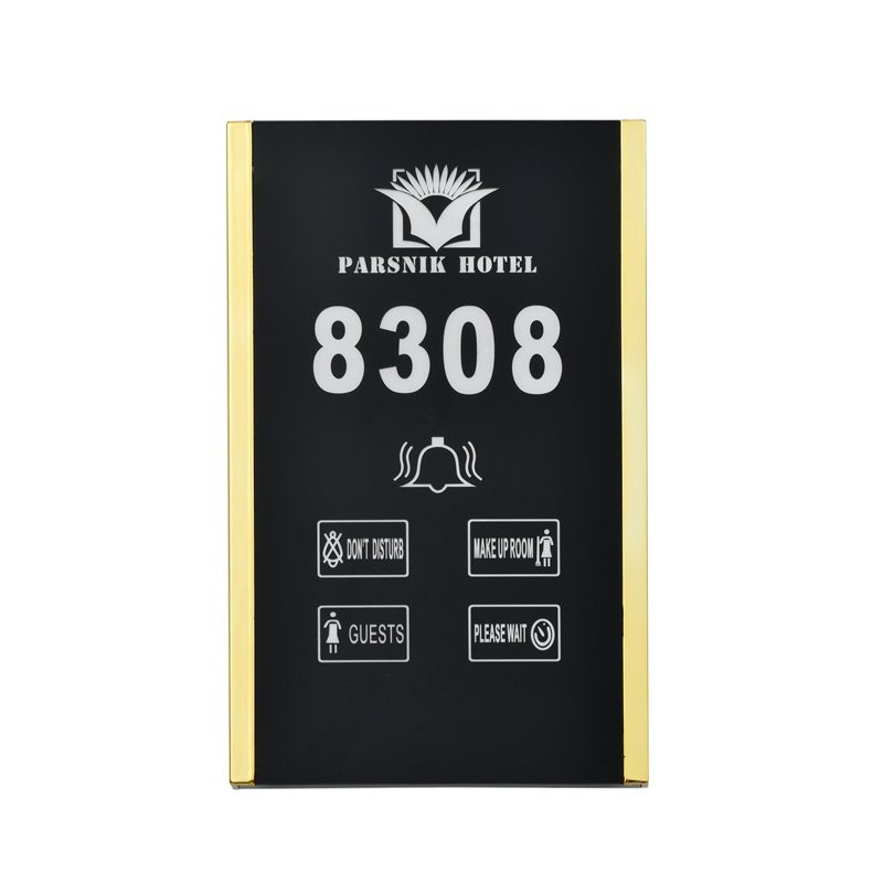 Five-in-One Electronic LED Hotel Guest Room Number Doorplate Display