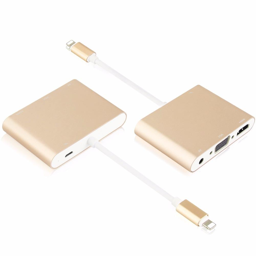 Light-ning to Digital AV VGA HDMI Adapter Support 4k 1080P Video Adapter for iPhone iPads