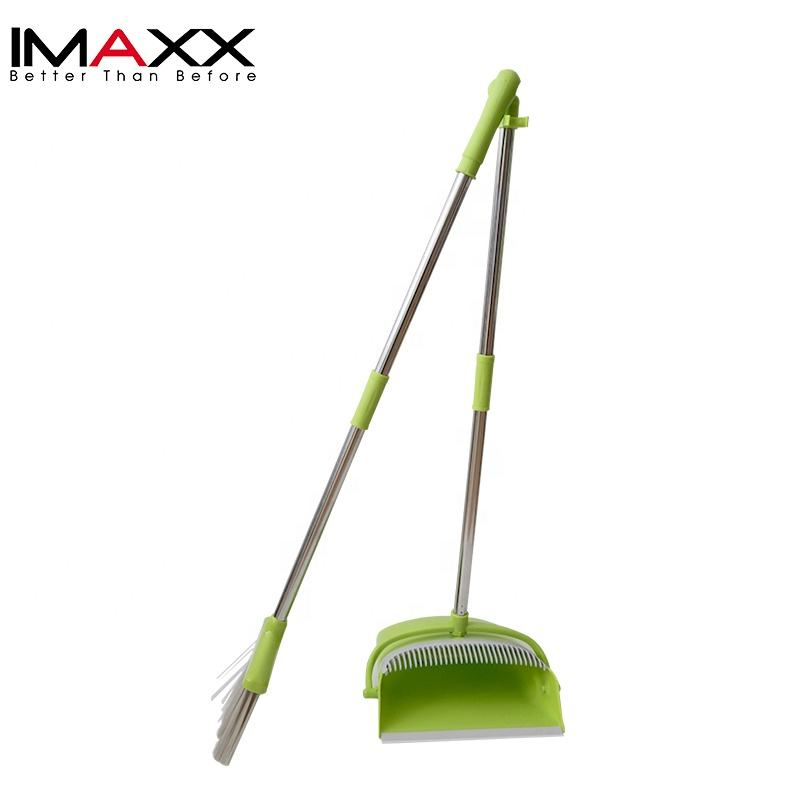 Houseware Windproof Plastic Long Handle Broom And Dustpan