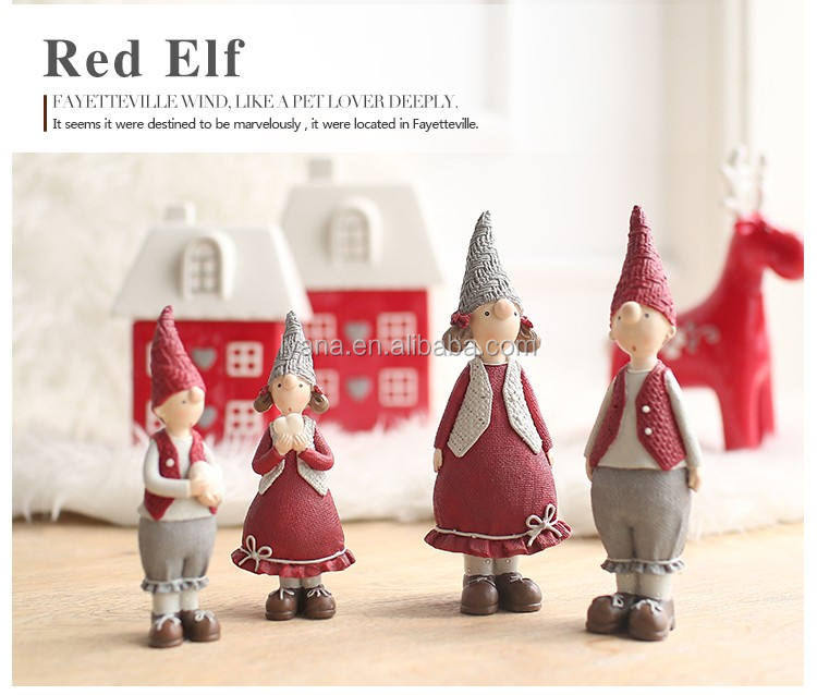 Resin Figurines ChristmasCouple Doll Collection Fairy Christmas Decoration Ornament