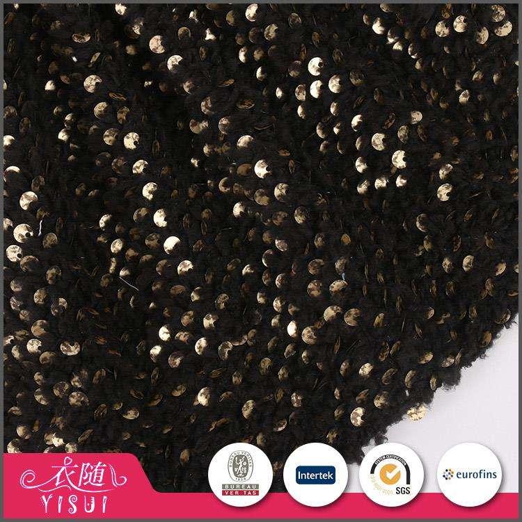 Compras en línea personalizada handfeel suave tela de escamas de pescado de lentejuelas reversibles