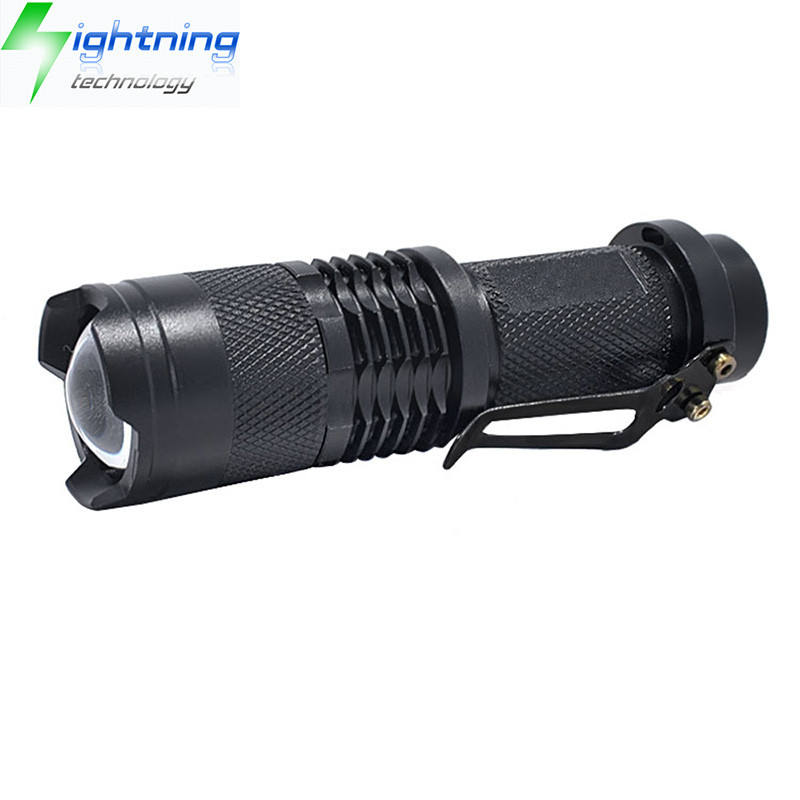 Ultrafire SK68 Mini Portabel Aluminium Rechargeable 3 Mode Zoomable CREE XPE <span class=keywords><strong>Q5</strong></span> LED 18650 Senter Taktis Torch LED 3 W