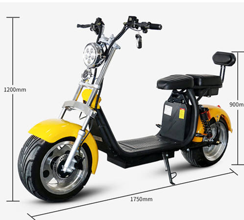 EEC COC classic hot selling 2 wheel electric scooter citycoco 1000w- 2000w cheap price