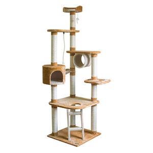 Diy Wood Floor To Ceiling Climbing Play Indoor Cat Tree Towers House Products For Large Cats