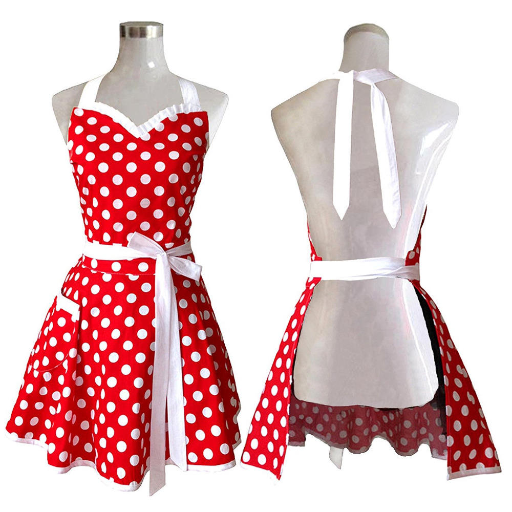 Cute Kitchen Aprons Woman Girl Cotton Cooking Apron