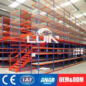 Custom Mezzanine Rack System Mezzanine Warehouse Storage Steel Loft Type Racking