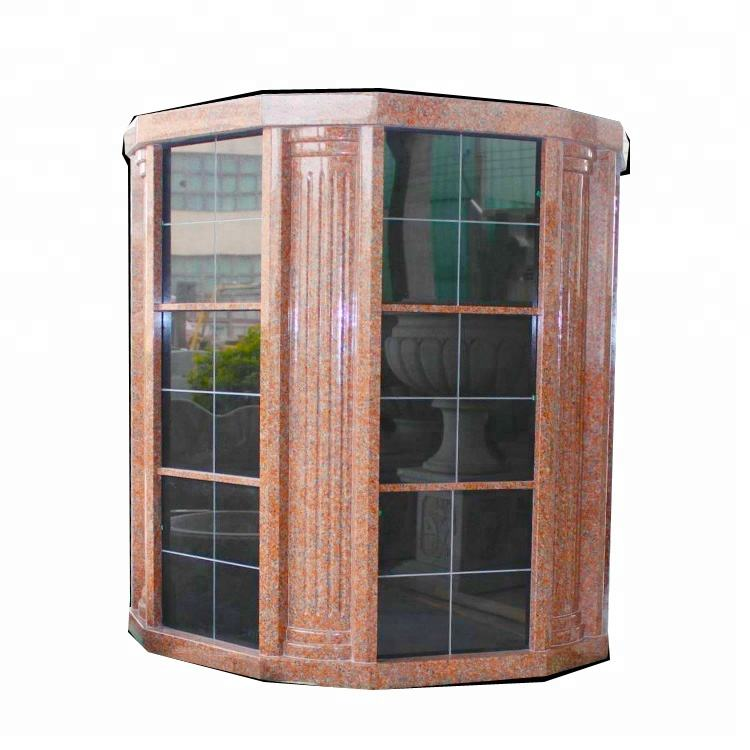 Natural Stone Red Granite Columbarium Niche Design Prices
