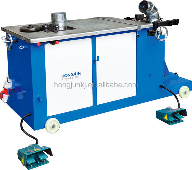 HJWT1000 Half automatic elbow making machine for spiral pipe connect