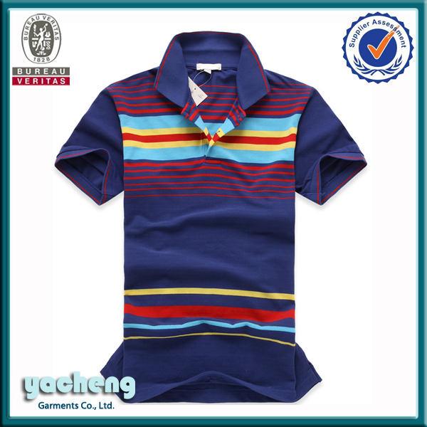 Coton / en vente chaude men's cool et nouveau fil colorant france style polo homme