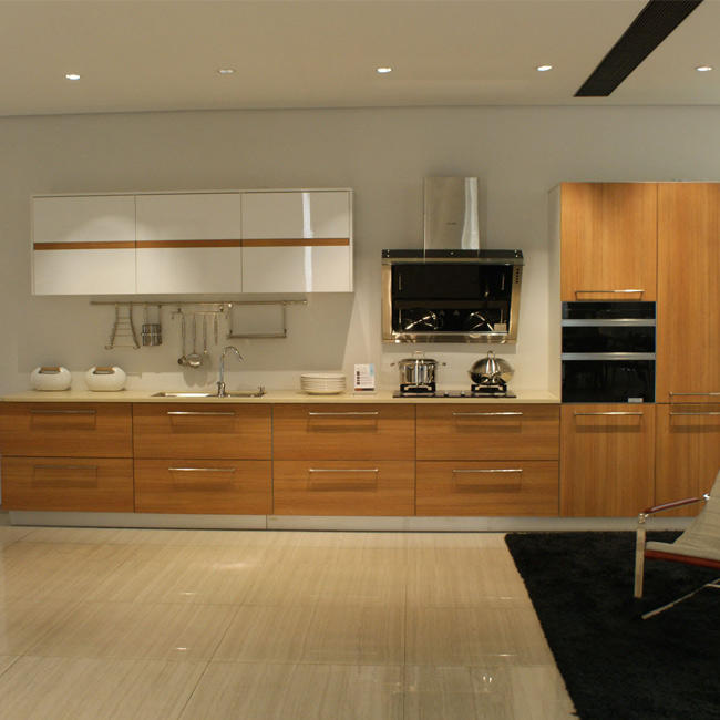 Bianco compensato bordo della melammina kitchen cabinet doors con hardware
