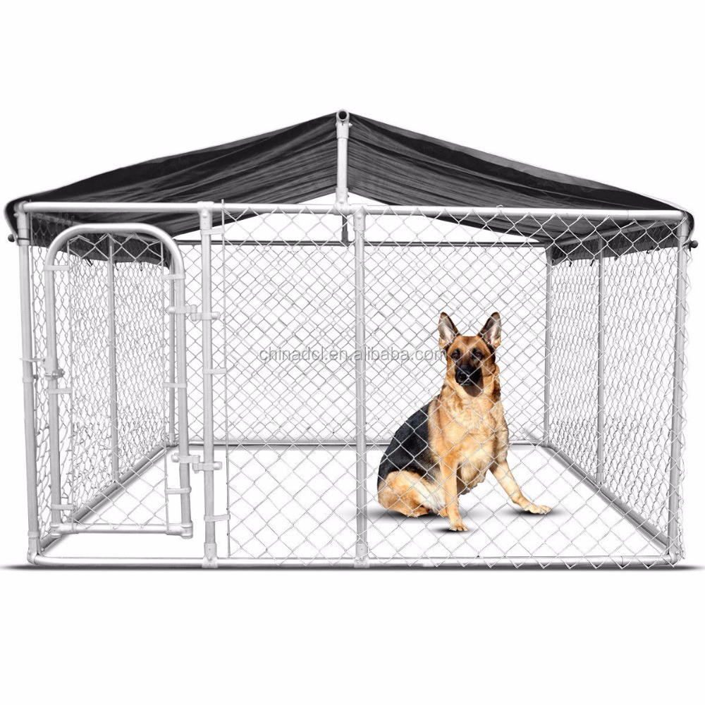 10X10X6 Kaki Classic Galvanized Outdoor Dog Kennel/Dog Run Kandang/Pet Playpen
