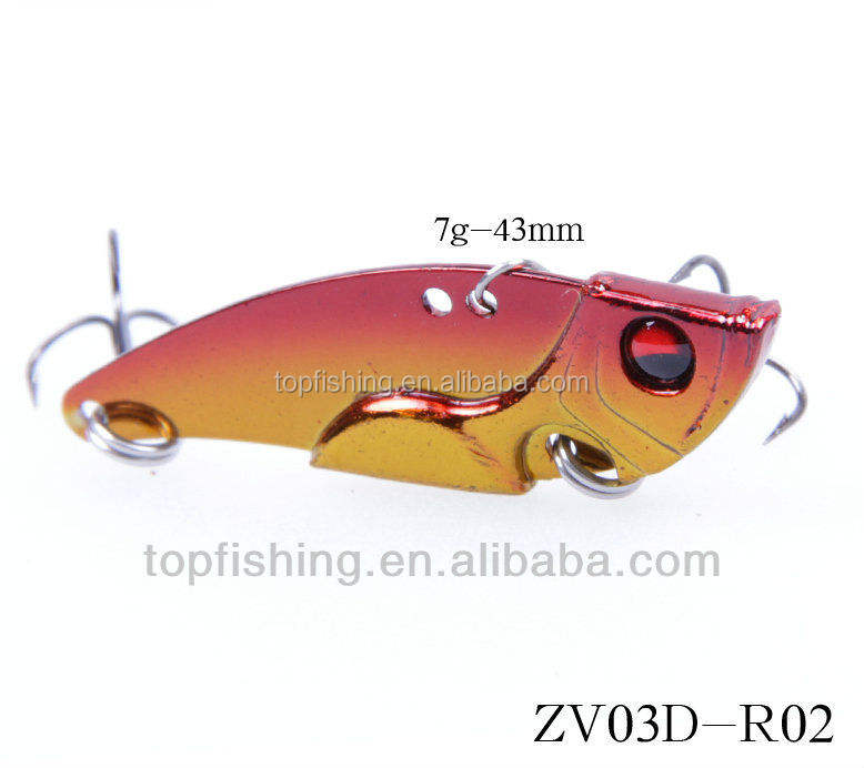 New style metal fishing lures, Sinking vibe, Bass hard bait, 60mm, 10g/15g