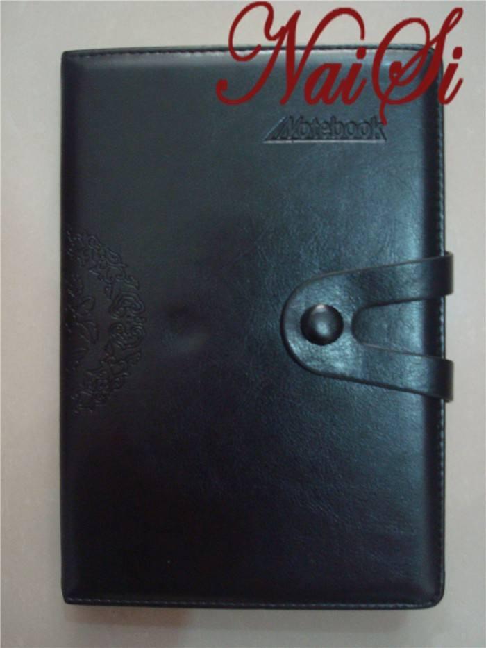 Naisi clásico cuaderno de cuero, grande, gobernó, negro, azul, <span class=keywords><strong>tapa</strong></span> <span class=keywords><strong>dura</strong></span>