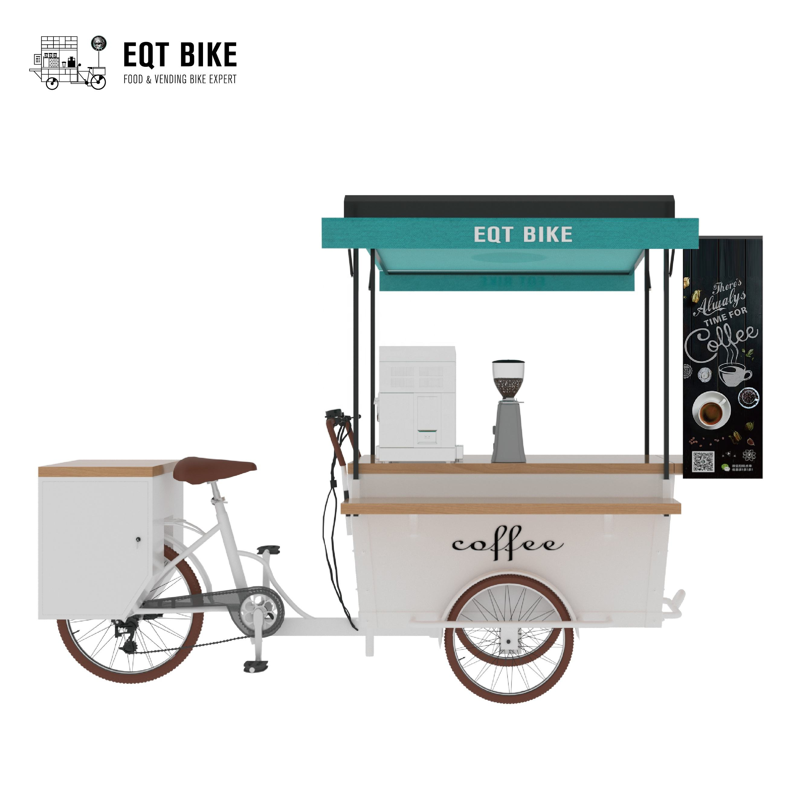 Packaging Customization [ Food Bike ] Electric Mobile Food Carts/coffee Bike For Sale