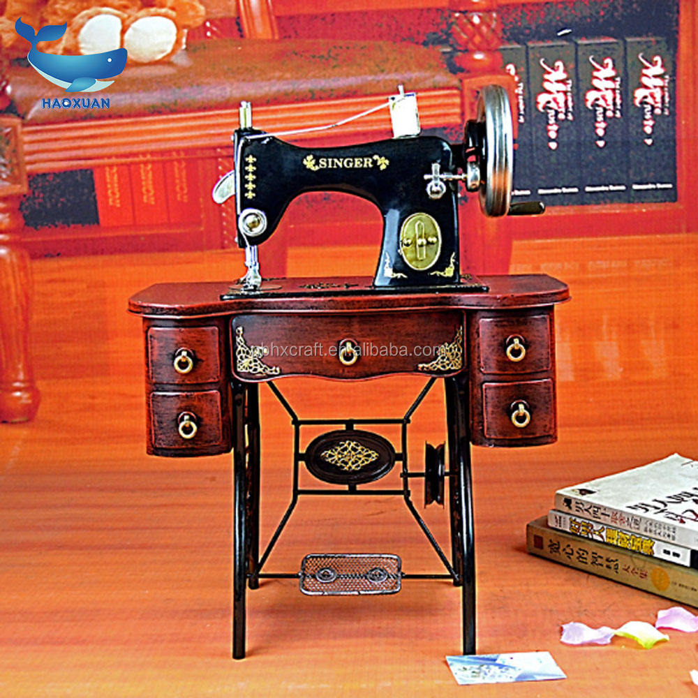 YWJT0090 HAOXUAN New Arrived 2018 metal sewing machine antique model craft decorations