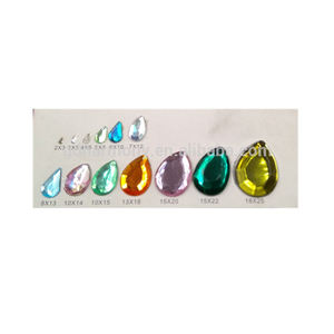 Acryl crystal diamond kralen Transparant Multicolor Waterdrop Platte hoek Steentjes