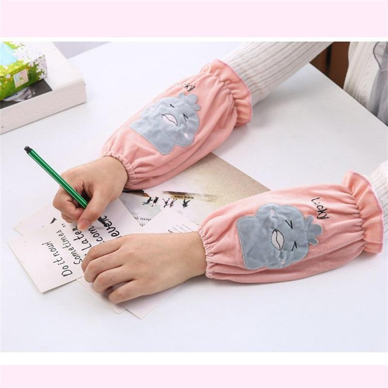 women oversleeve flannel office sleevelet for women and children in winter dust-proof oversleeve