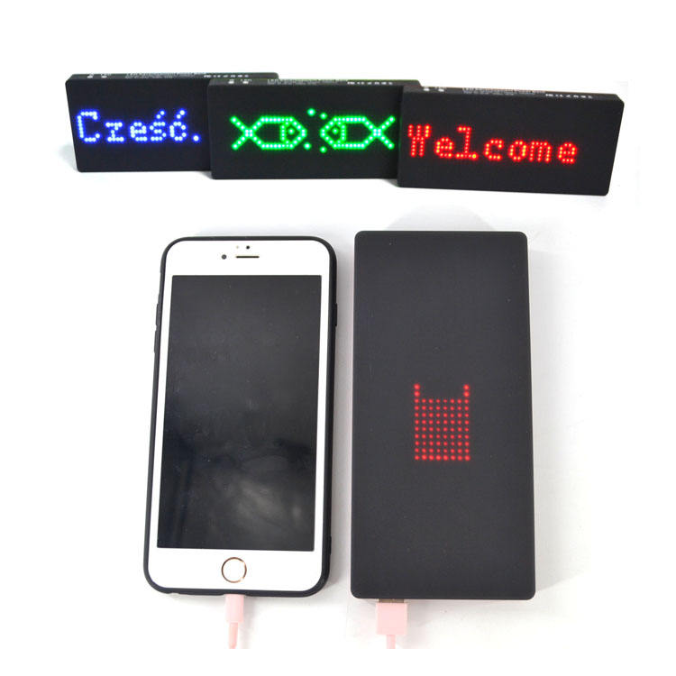 App Programmable Led Customized Scrolling Messsage Power Bank, Led Adevertisement Power Bank, Power Bank For Vip Gift