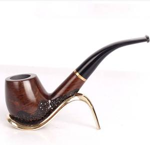 Best promotion gift sandalwood hand made pipe for tobecco pipe