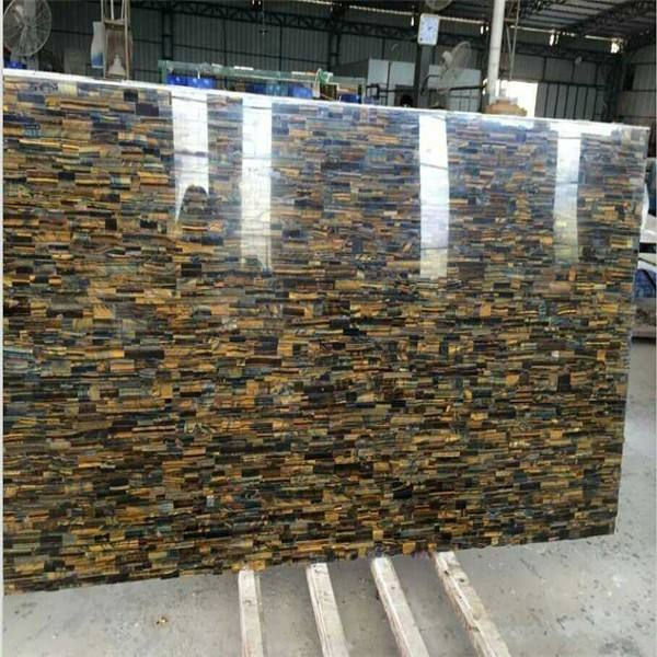 Tiger Eye Semi Precious Gem Stone Slab for super design
