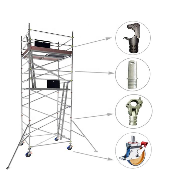 High quality multifunctional rental aluminum scaffolding tower