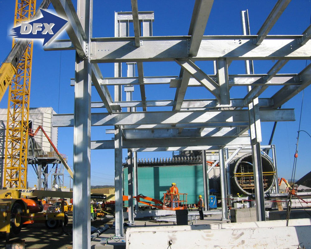 Strong Wind Resistant Steel Structure Design Petrol Station