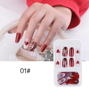 Wear korea false nail tips art Finished Piece Detachable Artificial Nails 24 Pieces Net Red Nail Patch