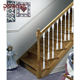 porch /staircase wooden railing stanchions