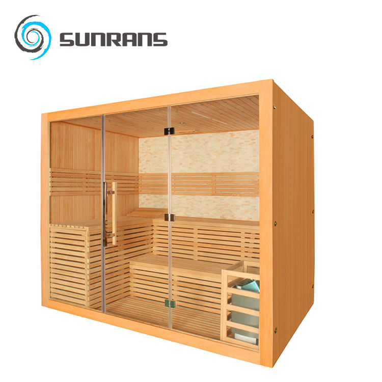 Hot Sale Stone Background Luxury Home sauna Finland Wood Import Sauna