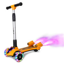Scooter rocket  CE certification 3 wheel children spray scooter