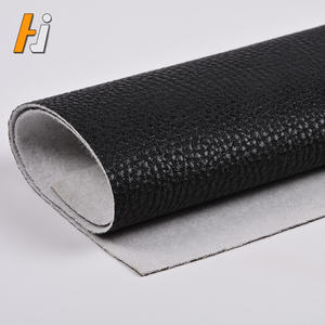 Black Faux Leather Roll Bekleding Stof Leer Materiaal Product