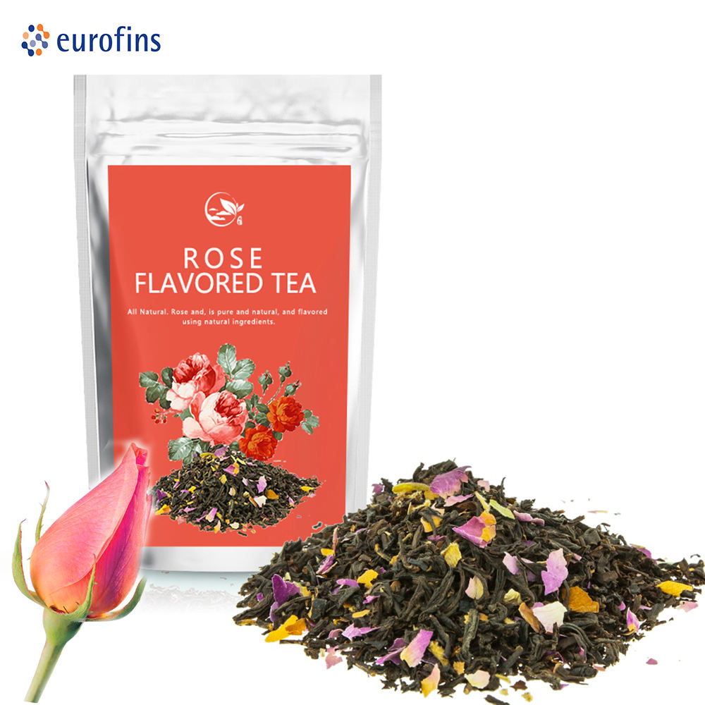 Organische Custom Kamille Osmanthus Rose Zwarte <span class=keywords><strong>Thee</strong></span> Sencha Chinese Geparfumeerde Blended Blend Cha Chai Detox Kruidenthee