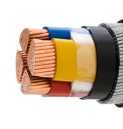 Stock Supply PVC or XLPE Insulated 4 Core Cable 10mm2 120mm Copper Armoured Electric Power Cable