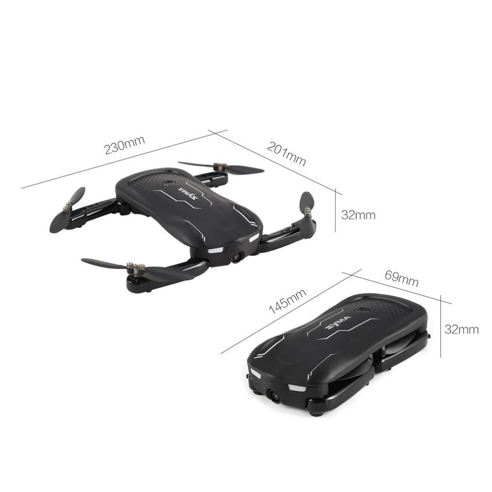 Free shipment SYMA Z1 Foldable Mini Quadrocopter with Camera HD 720P FPV RC Helicopter App Control Pocket Quadcopter