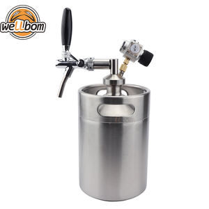 Best sell Different capacity stainless steel barril cerveza keg with CO2 dispenser mini keg