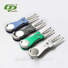 golf prepare divote tool with ball markers,brand logo magnetic ball markers and golf divot