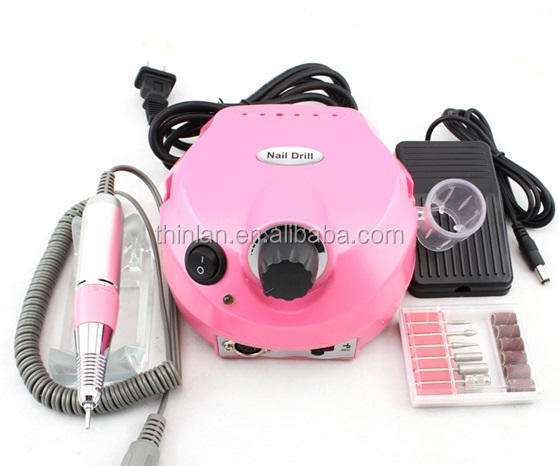 Alibaba China Factory Best Quality pedicure machine professional 30000rpm vacuum nail drill manicure set electric nail polisher