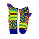 unisex combed cotton dress colorful funny African print socks