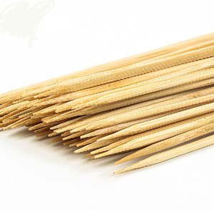 Food grade bbq stick bamboo skewer with custom logo / small bamboo sticks
