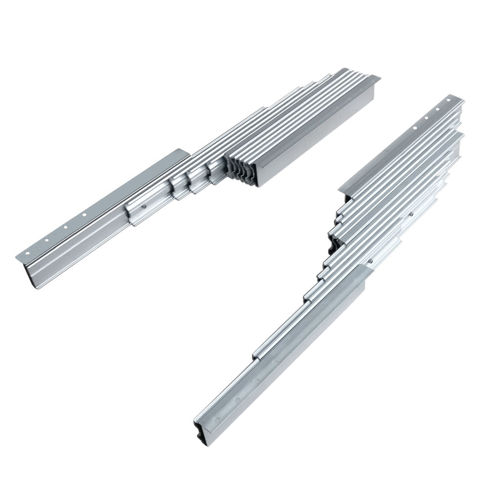 aluminium telescoping dining-room table slide extender mechanism