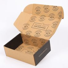Cheap paper kraft brown postage boxes custom logo printed hard corrugated hair dryer retail ready gift subscription box