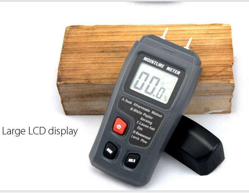 0-99.9%Two Pins Digital Wood Moisture Meter Hot Humidity Tester 0.5 percent Accuracy Hygrometer Timber Damp Detector