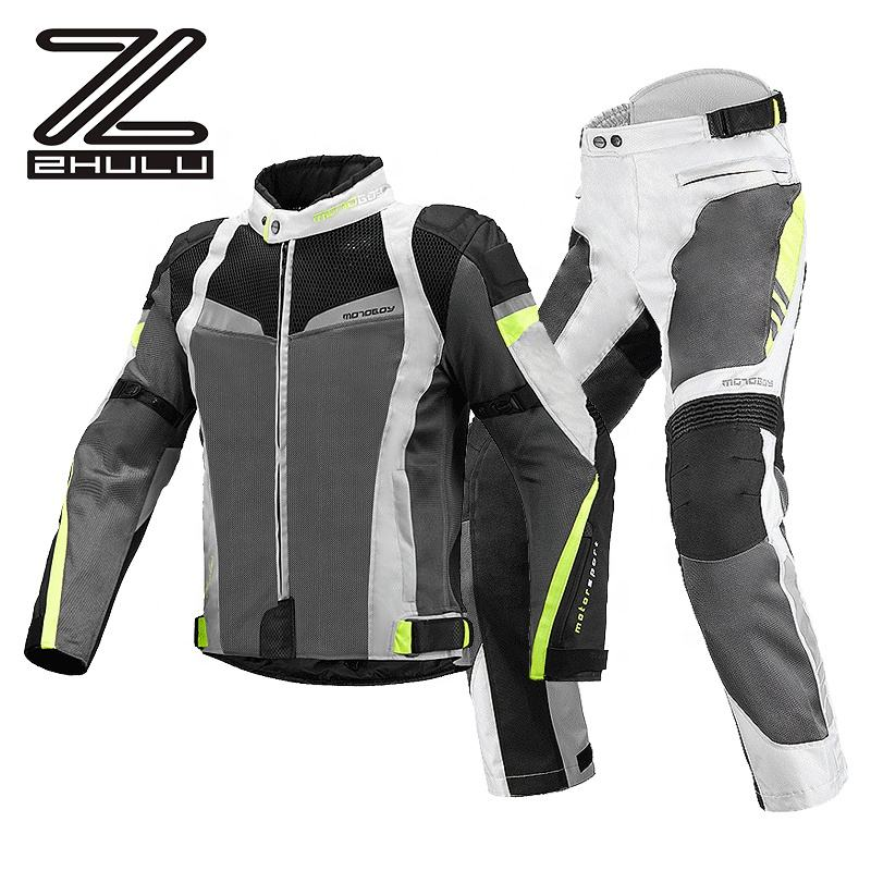 Best price Mesh men breathable anti-fall Motorcycle Jacket riding racing Suit