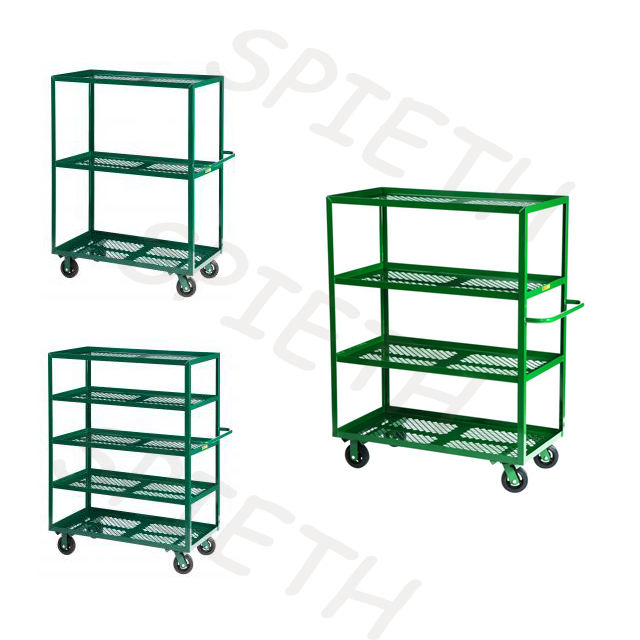 easy assembled wire garden carts trolley used in warehouse,greenhouse,nursery