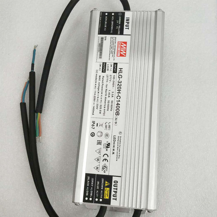 Low Price for Promotion ! 320W 1400mA Constant Current Mean Well LED Driver HLG-320H-C1400B
