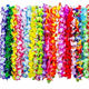 Wholesale Cheap Tropical Hawaiian Luau Flower Lei Ruffled Flowers Necklaces Hawaiian Luau Lei Beach Party Decorations