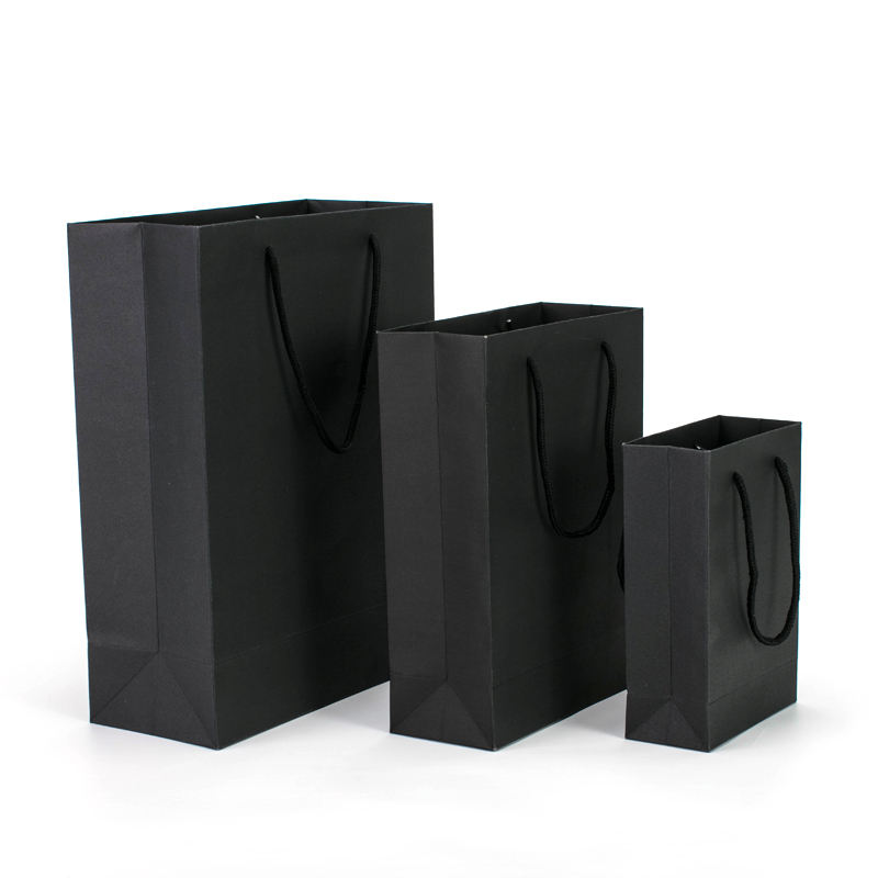 Shop Promotional Cardboard Printed Your Own Logo Shopping Paper Bag With Ribbon Handles