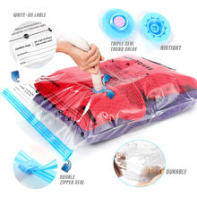 Home Mattress Space Saver Reusable Vacuum Compressed Storage Bags Set Large Vacuum Storage Bags For Clothes With Pump