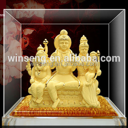 High Quality 24K Gold Plated 3D Indian God