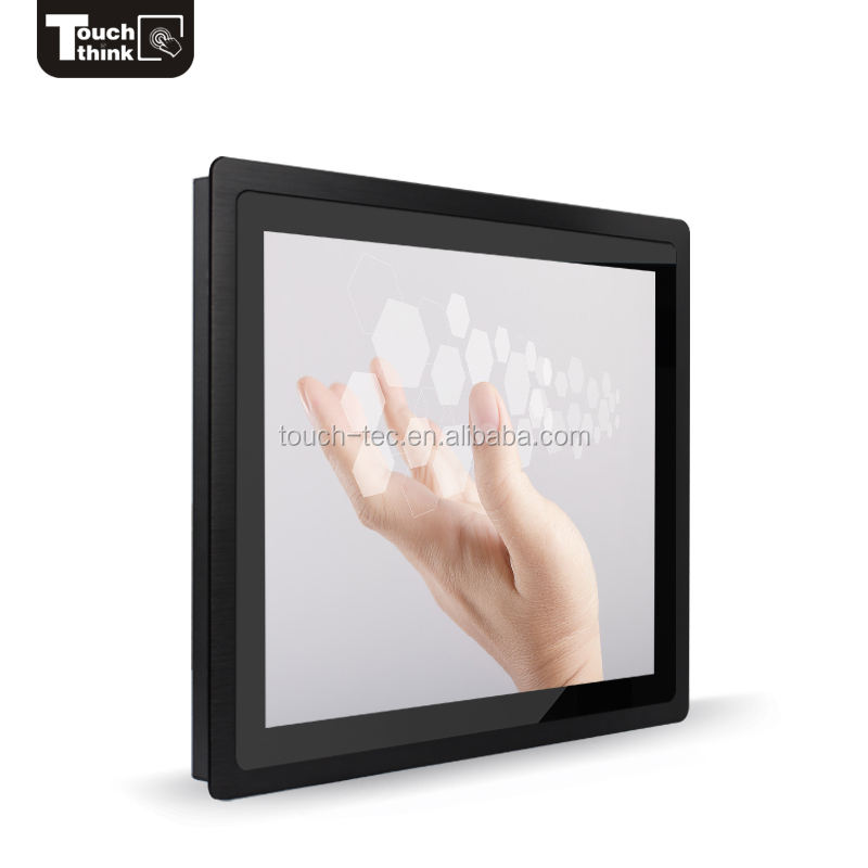 Groothandel open frame type 22 inch industriële touchscreen monitor met VGA/RS232/USB interface